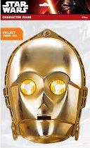 """Маска - C-3PO - Парти аксесоар от серията """"Междузвездни войни"""" - макет"""