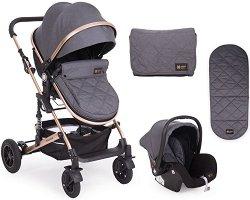 Бебешка количка 2 в 1 - Amaia - С 4 колела -