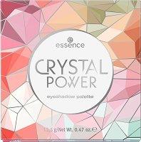Essence Crystal Power Eyeshadow Palette - Палитра с 9 цвята сенки за очи - червило