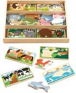 Животни - Детски дървен пъзел -