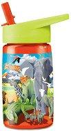 """Детска бутилка със сламка - Сафари 450 ml - Детски аксесоар от серията """"Crocodile Creek"""" -"""