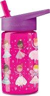 """Детска бутилка със сламка - Феи и принцеси 450 ml - Детски аксесоар от серията """"Crocodile Creek"""" -"""