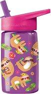 """Детска бутилка със сламка - Ленивци 450 ml - Детски аксесоар от серията """"Crocodile Creek"""" -"""
