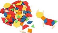 Мозайка с геометрични форми - Дървена образователна играчка -