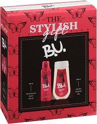 """Подаръчен комплект - B.U. The Stylish Gift - Дамски душ гел и дезодорант от серията """"Passion"""" - парфюм"""