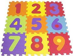 Цифри - Детски пъзел с меки части - тип килимче -