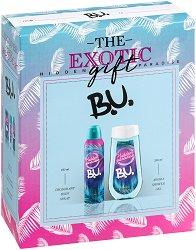 """Подаръчен комплект - B.U. The Exotic Gift - Дамски душ гел и дезодорант от серията """"Hidden Paradise"""" - продукт"""