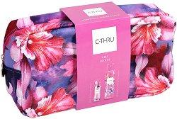 Подаръчен комплект с несесер - C-Thru Girl Bloom - Парфюм и спрей дезодорант -