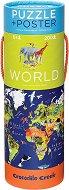 """Карта на света - Образователен пъзел от серията """"Crocodile Creek"""" -"""