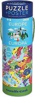 """Европа - Образователен пъзел от серията """"Crocodile Creek"""" -"""
