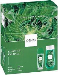 Подаръчен комплект - C-Thru Luminous Emerald - Дамски парфюмен спрей за тяло и душ гел -