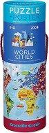 """Градовете по света - Образователен пъзел от серията """"Crocodile Creek"""" -"""