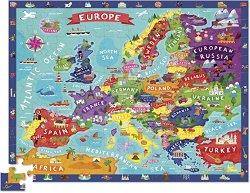 """Открий Европа - Образователен пъзел от серията """"Crocodile Creek"""" -"""