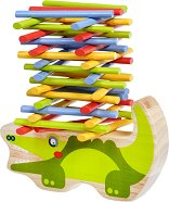 Крокодил - Детска дървена играчка за баланс - фигура