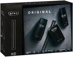 Подаръчен комплект за мъже - STR8 Original - Дезодорант, душ гел и мъжки парфюм - крем