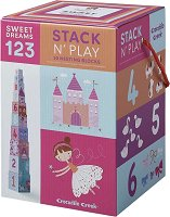 """Пирамида от кубчета - Феи и принцеси - Образователна играчка от серията """"Crocodile Creek"""" -"""
