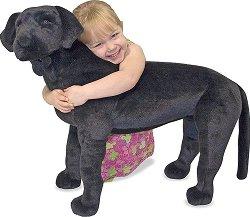 Черен лабрадор - Плюшена играчка с дължина 59 cm -