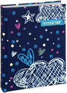 Тефтер с подплатени корици - Romantic blue
