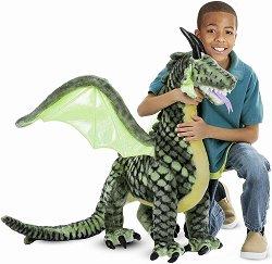 Дракон - Плюшена играчка с височина 102.8 cm -