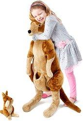 Кенгуру - Плюшена играчка с височина 86.3 cm -