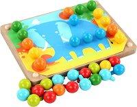 Мозайка - Детски образователен комплект от дърво - играчка
