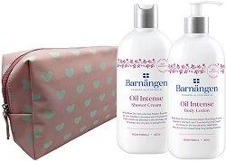 Подаръчен комплект с несесер - Barnangen Oil Intense - Душ крем и лосион за тяло -