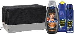 Подаръчен комплект за мъже с несесер - Fa Ipanema Nights & Schauma Sport Power - Душ гел, дезодорант и шампоан -