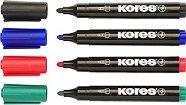 Перманентни маркери с объл връх - XP1 - Комплект от 4 цвята