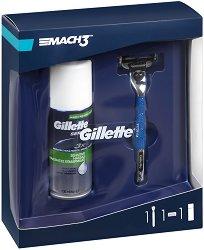 Подаръчен комплект за мъже - Gillette Mach 3 Start - Самобръсначка и пяна за бръснене - продукт
