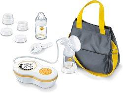 Електрическа помпа за изцеждане на кърма - BY 60 - Комплект с чанта, шишета и аксесоари -