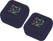 """Кутия за храна - Динозаври - Комплект от 2 броя от серията """"Crocodile Creek"""" -"""