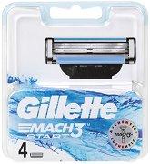 Gillette Mach 3 Start - Резервни ножчета за самобръсначка в опаковка от 4 броя -