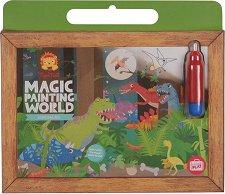 """Рисуване с вода - Динозаври - Творчески комплект от серията """"Tiger Tribe"""" -"""