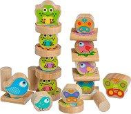 Животни - Детска дървена играчка за баланс -