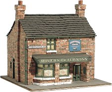 Английски бар Rovers Return Inn - Сглобяем модел от истински тухлички -