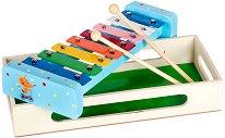 Ксилофон - Лисица - Детски музикален инструмент в дървена кутия - играчка
