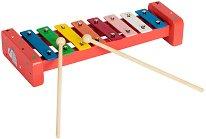 Ксилофон - Слонче - Детски музикален инструмент в дървена кутия -