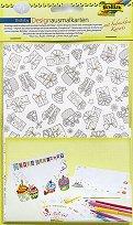 Декорирай сам картички и пликове - Рожден ден - Творчески комплект -