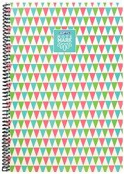 Ученическа тетрадка със спирала - Note Mark : Формат A4 с широки редове - 100 листа -