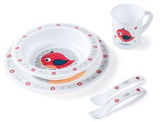 Детски комплект за хранене - Happy Animals - За бебета над 12 месеца -