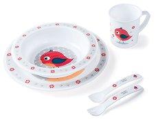 Детски комплект за хранене - Happy Animals - продукт
