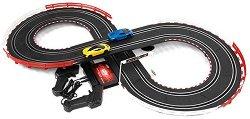 Състезателна писта - Slot Racing - Комплект с колички и 2 дистанционни управления -