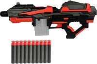 """Бластер - Комплект с 10 броя меки патрона от серията """"Red Guns"""" -"""