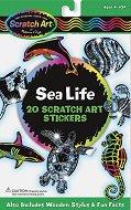 Декорирай сам скреч стикери - Морски свят - продукт