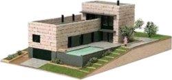 Модерна къща - Вилорама - Детски сглобяем модел от истински тухлички - макет