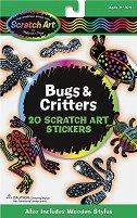 Декорирай сам скреч стикери - Влечуги и насекоми - Творчески комплект - творчески комплект