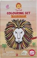 """Оцвети сам и декорирай - Царството на животните - Творчески комплект от серията """"Tiger Tribe"""" -"""