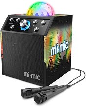 Mi-Mic - Караоке с диско светлини - Комплект от колона и 2 микрофона -