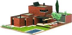 Модерна къща - Рокафорд - Детски сглобяем модел от истински тухлички -