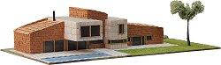Модерна къща - Реллинарс - Детски сглобяем модел от истински тухлички - макет